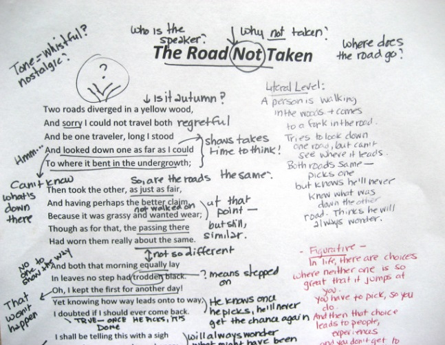 The Road Not Taken-Annotation