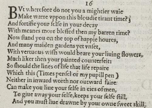 William Shakespeare, 16th Sonnet